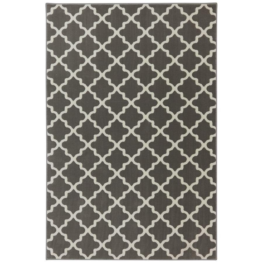 allen + roth Elysian Trellis Brindle Rectangular Indoor Woven Area Rug (Common: 5 x 8; Actual: 5.25-ft W x 7.8333-ft L x 0.5-ft Dia)