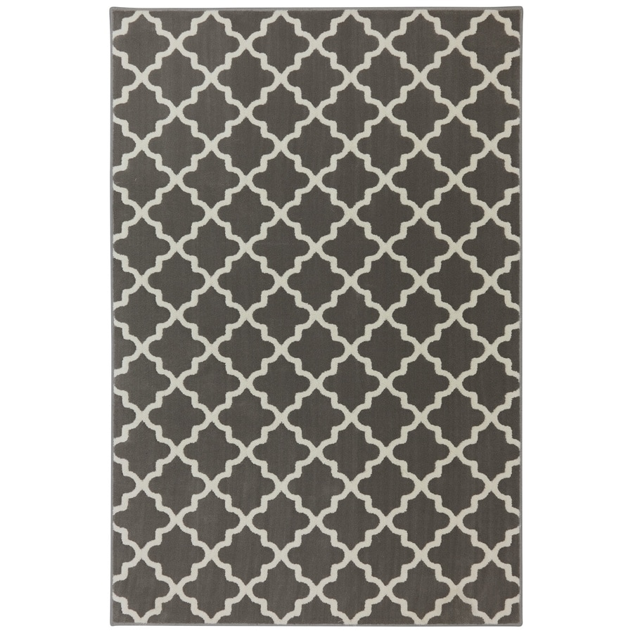 allen + roth Elysian Trellis Brindle Rectangular Indoor Woven Area Rug (Common: 8 x 10; Actual: 8-ft W x 10-ft L x 0.5-ft Dia)