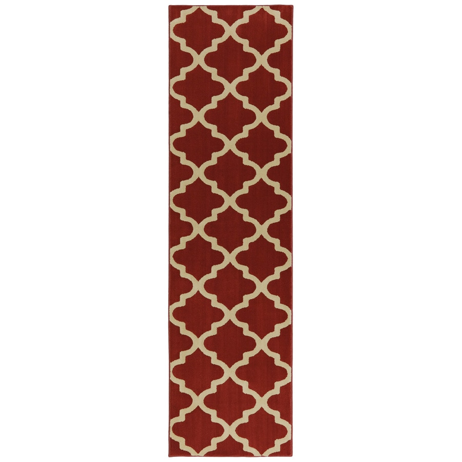 Mohawk Home Elysian Trellis Russett Brown Rectangular Indoor Woven Runner (Common: 2 x 8; Actual: 2.0833-ft W x 7.8333-ft L x 0.5-ft Dia)