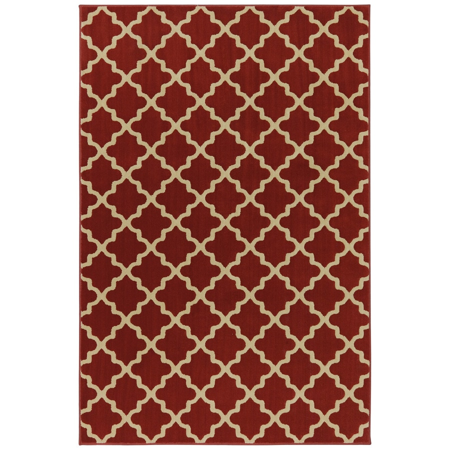 allen + roth Elysian Trellis Russett Brown Rectangular Indoor Woven Area Rug (Common: 5 x 8; Actual: 5.25-ft W x 7.8333-ft L x 0.5-ft Dia)