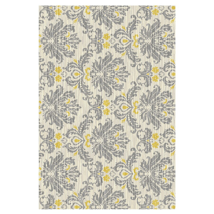 Mohawk Home Bethany Yellow Rectangular Indoor Machine-Made Inspirational Throw Rug (Common: 2 x 4; Actual: 2.5-ft W x 3.8333-ft L x 0.5-ft dia)