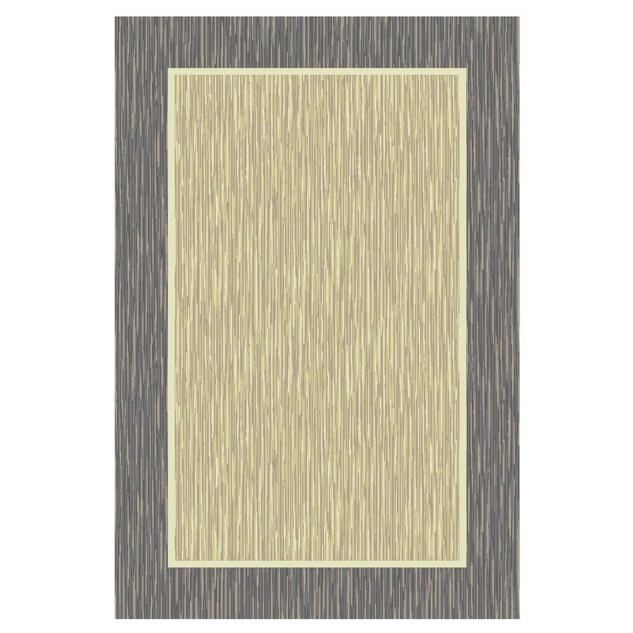 Mohawk Home Border Basic Neutral Rectangular Indoor Tufted Throw Rug (Common: 2 x 4; Actual: 27-in W x 45-in L x 0.5-ft Dia)