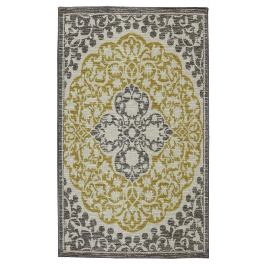 Mohawk Home Tahj Wheat Rectangular Indoor Machine-Made Oriental Throw Rug (Common: 2 x 3; Actual: 2-ft W x 3.33-ft L x 0.5-ft dia)