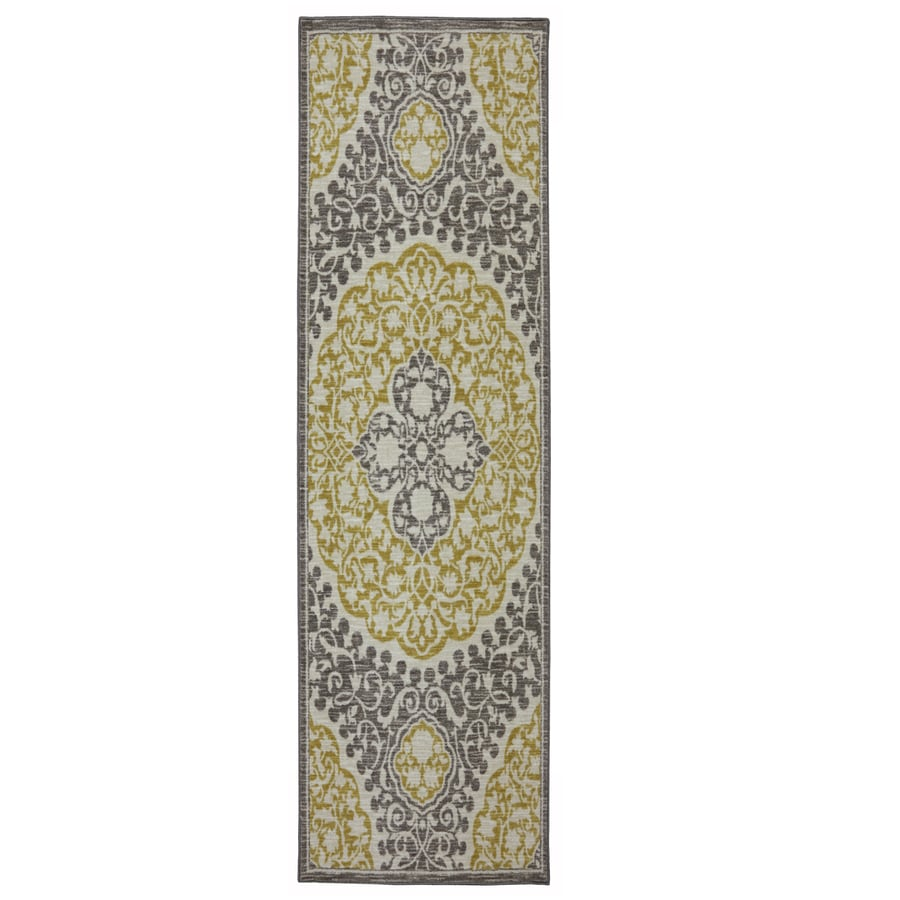 Mohawk Home Tahj Wheat Rectangular Indoor Tufted Runner (Common: 2 x 8; Actual: 2-ft W x 8-ft L x 0.5-ft Dia)