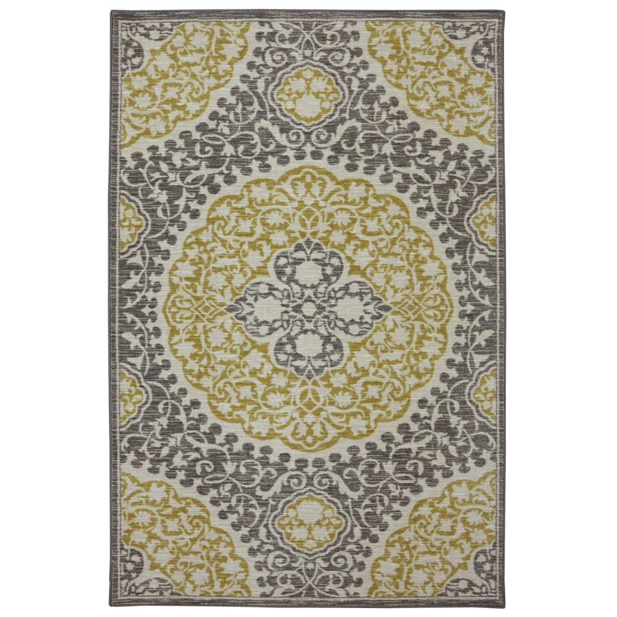 Mohawk Home Tahj Wheat Rectangular Indoor Tufted Area Rug (Common: 8 x 10; Actual: 8-ft W x 10-ft L x 0.5-ft Dia)