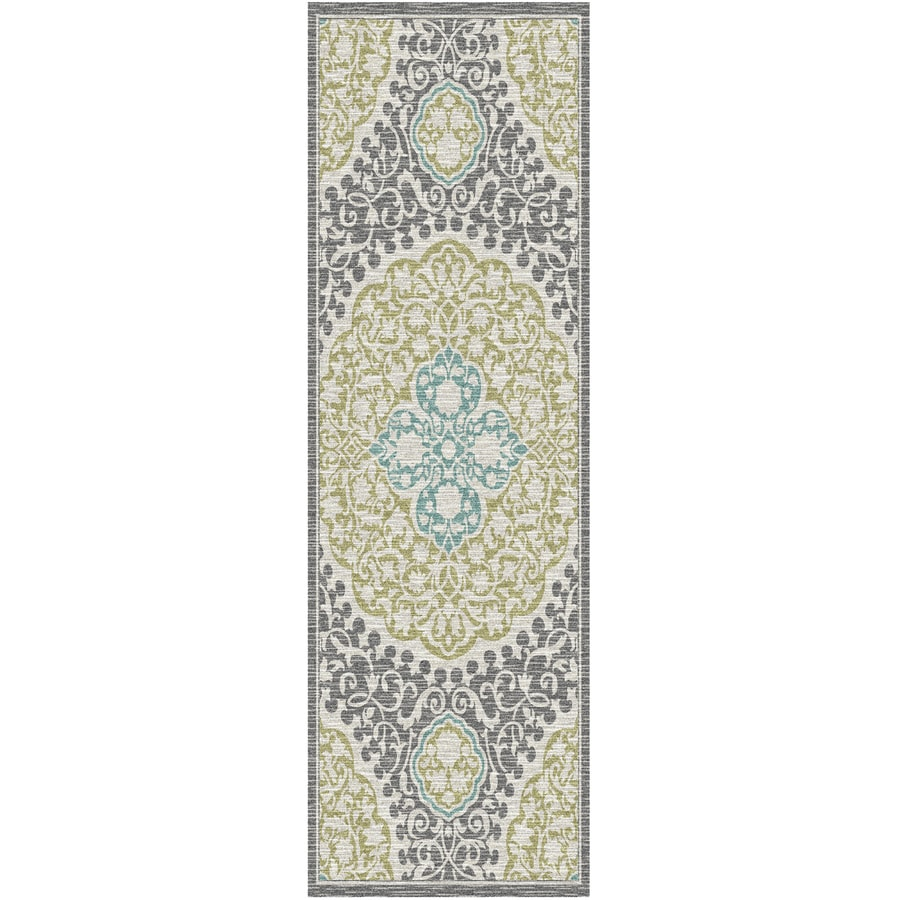 Mohawk Home Tahj Sage Rectangular Indoor Tufted Runner (Common: 2 x 8; Actual: 2-ft W x 8-ft L x 0.5-ft Dia)