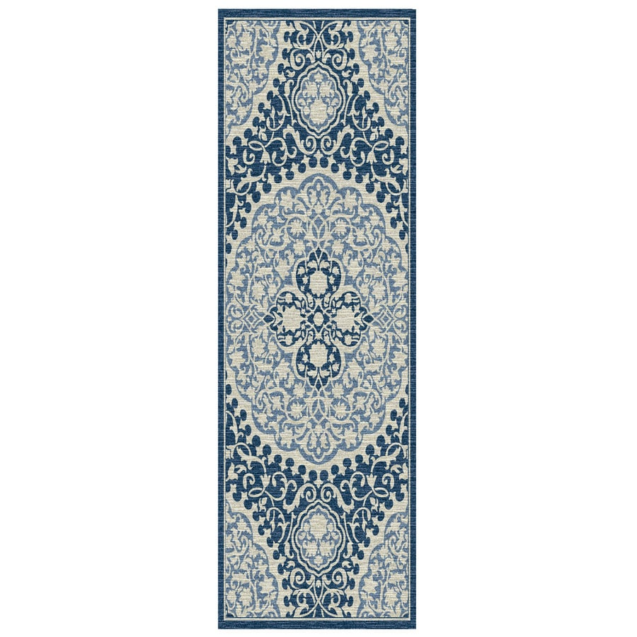 Mohawk Home Tahj Blue Rectangular Indoor Tufted Runner (Common: 2 x 8; Actual: 2-ft W x 8-ft L x 0.5-ft Dia)