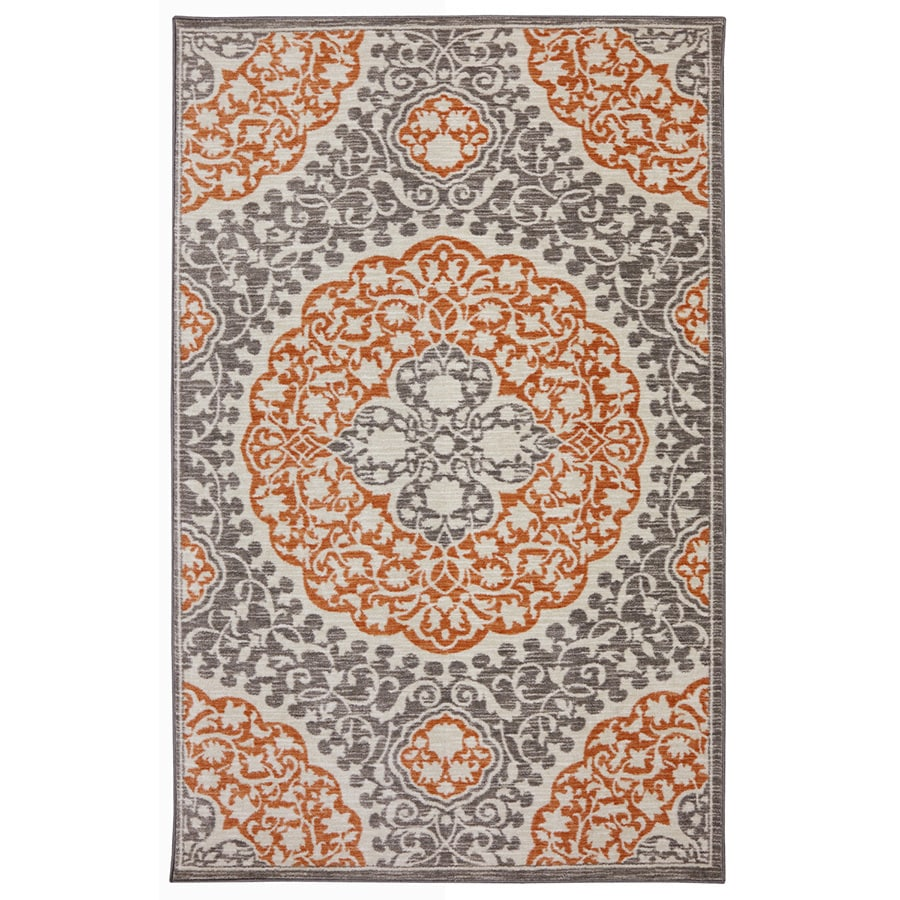 Mohawk Home Tahj Coral Rectangular Indoor Tufted Area Rug (Common: 8 x 10; Actual: 8-ft W x 10-ft L x 0.5-ft Dia)