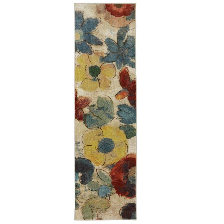 Mohawk Home Wildflower Cream/Multicolor Rectangular Indoor Tufted Runner (Common: 2 x 8; Actual: 24-in W x 96-in L x 0.5-ft Dia)