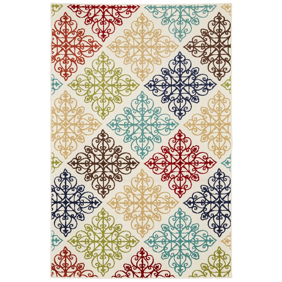 Mohawk Home Callisto Birch Cream Rectangular Indoor Woven Area Rug (Common: 5 x 8; Actual: 63-in W x 94-in L x 0.5-ft Dia)