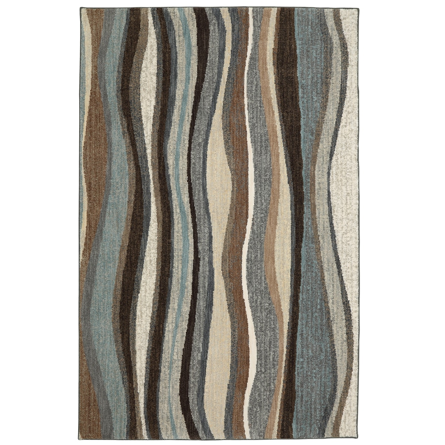 Mohawk Home Huxley Beckley Multi Rectangular Indoor Machine-Made Inspirational Area Rug (Common: 2 x 8; Actual: 2-ft W x 8-ft L x 0.5-ft dia)