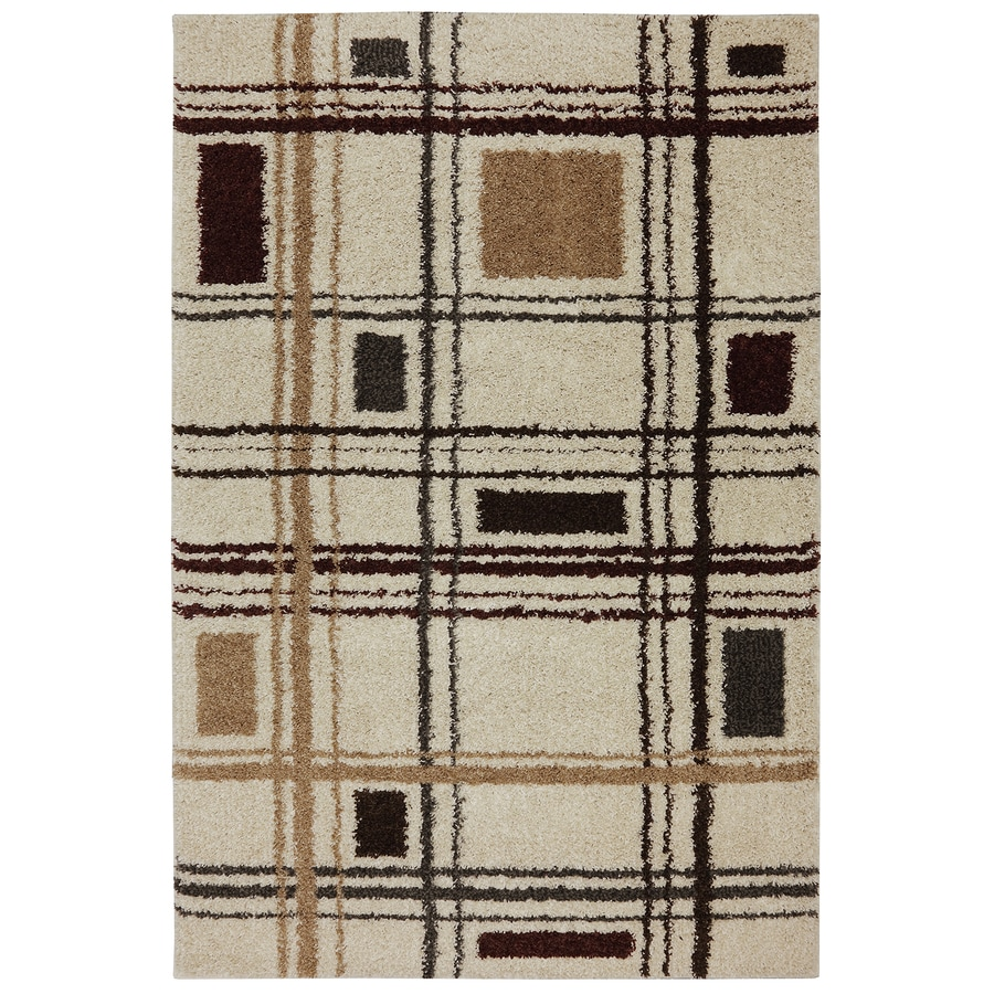 Mohawk Home Huxley Beckley Multi Rectangular Indoor Machine-Made Inspirational Area Rug (Common: 8 x 11; Actual: 8-ft W x 11-ft L x 0.5-ft dia)