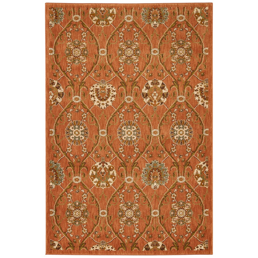 Mohawk Home Barre Spice Orange/Peach/Apricot Rectangular Indoor Woven Area Rug (Common: 5 x 8; Actual: 5.25-ft W x 7.8333-ft L x 0.5-ft Dia)
