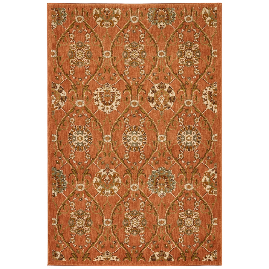 Mohawk Home Barre Spice Orange/Peach/Apricot Rectangular Indoor Woven Area Rug (Common: 8 x 11; Actual: 96-in W x 132-in L x 0.5-ft Dia)