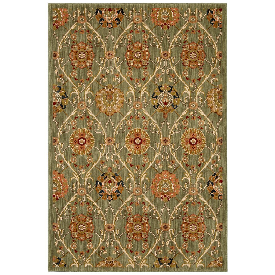 Mohawk Home Barre Aqua Green Rectangular Indoor Woven Area Rug (Common: 8 x 11; Actual: 8-ft W x 11-ft L x 0.5-ft Dia)