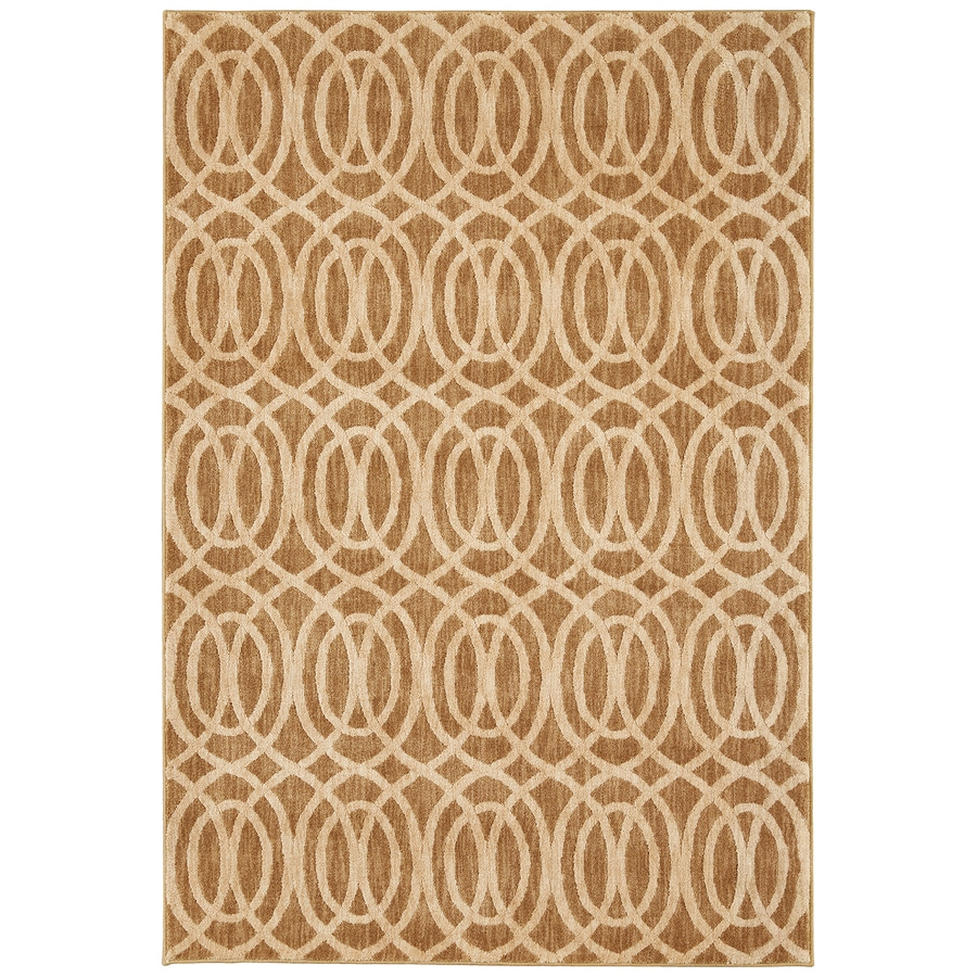 Mohawk Home Davenport Latte Rectangular Indoor Woven Area Rug