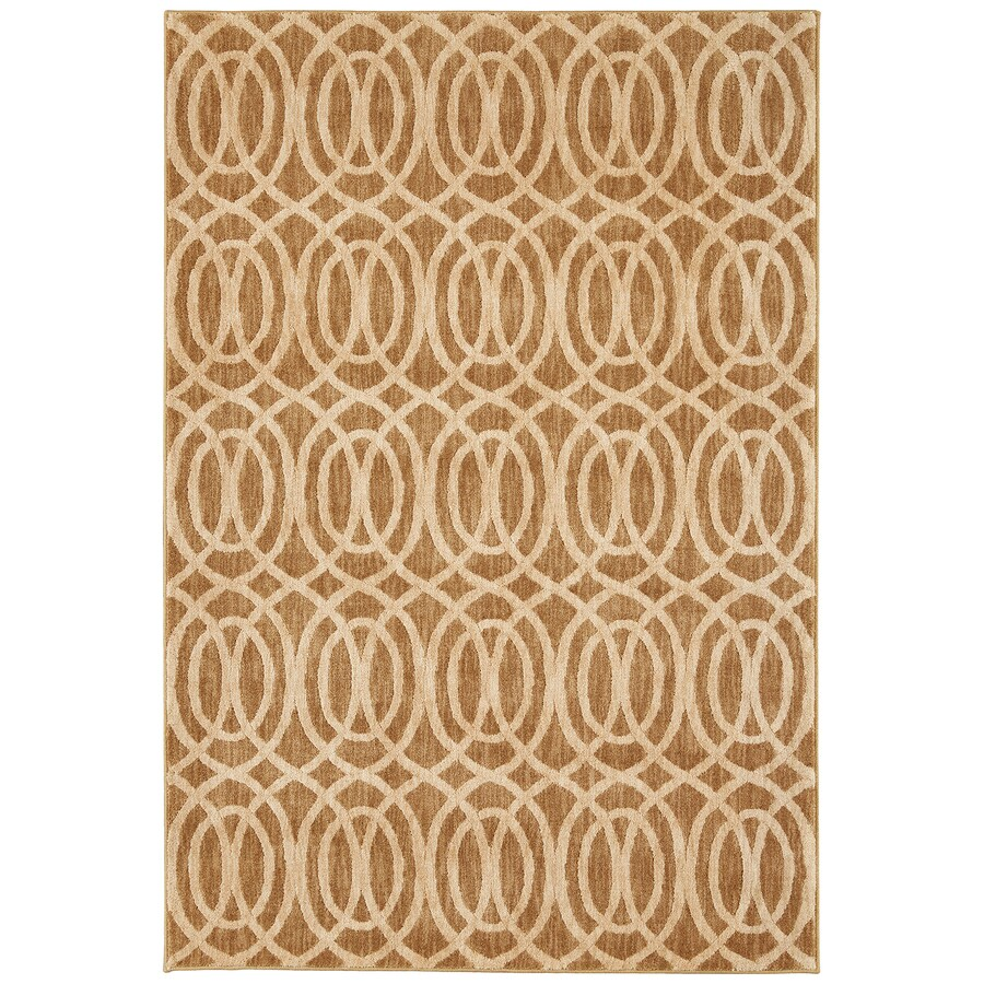 Mohawk Home Davenport Latte Rectangular Indoor Woven Area Rug (Common: 8 x 11; Actual: 8-ft W x 11-ft L)