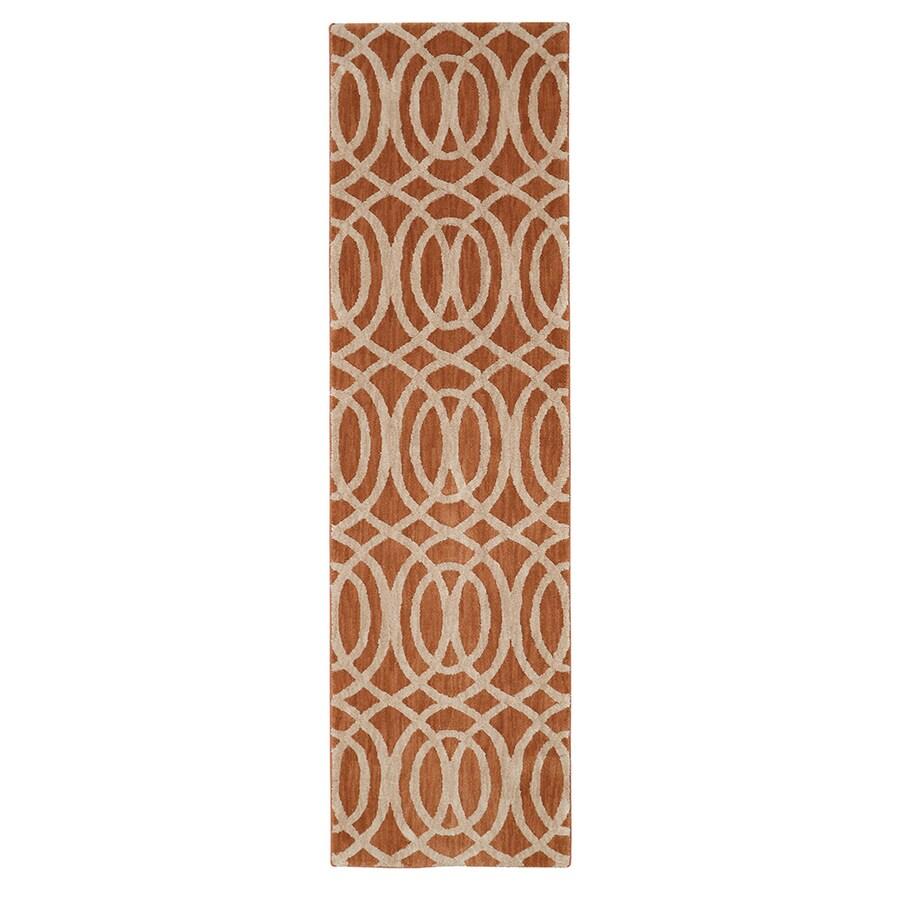 Mohawk Home Davenport Spice Rectangular Indoor Woven Runner (Common: 2 x 8; Actual: 2.08-ft W x 7.83-ft L)