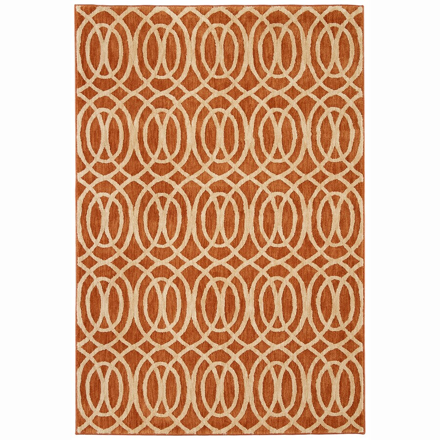 Mohawk Home Davenport Spice Rectangular Indoor Woven Area Rug (Common: 5 x 8; Actual: 5.25-ft W x 7.83-ft L)