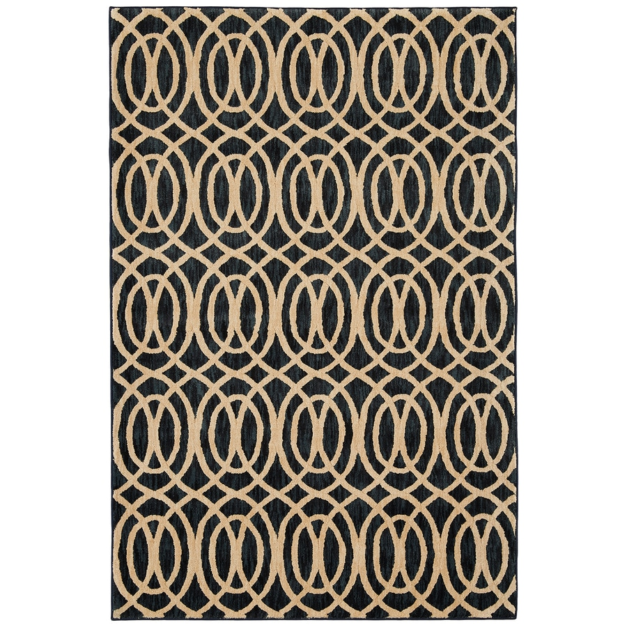 Mohawk Home Davenport Navy Rectangular Indoor Woven Area Rug (Common: 7 x 10; Actual: 6.58-ft W x 9.66-ft L)