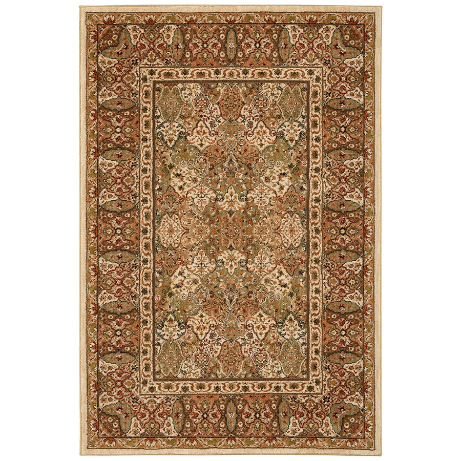 Mohawk Home Barnard Tan Cream/Beige/Almond Rectangular Indoor Machine-Made Inspirational Area Rug (Common: 8 x 11; Actual: 8-ft W x 11-ft L x 0.5-ft dia)