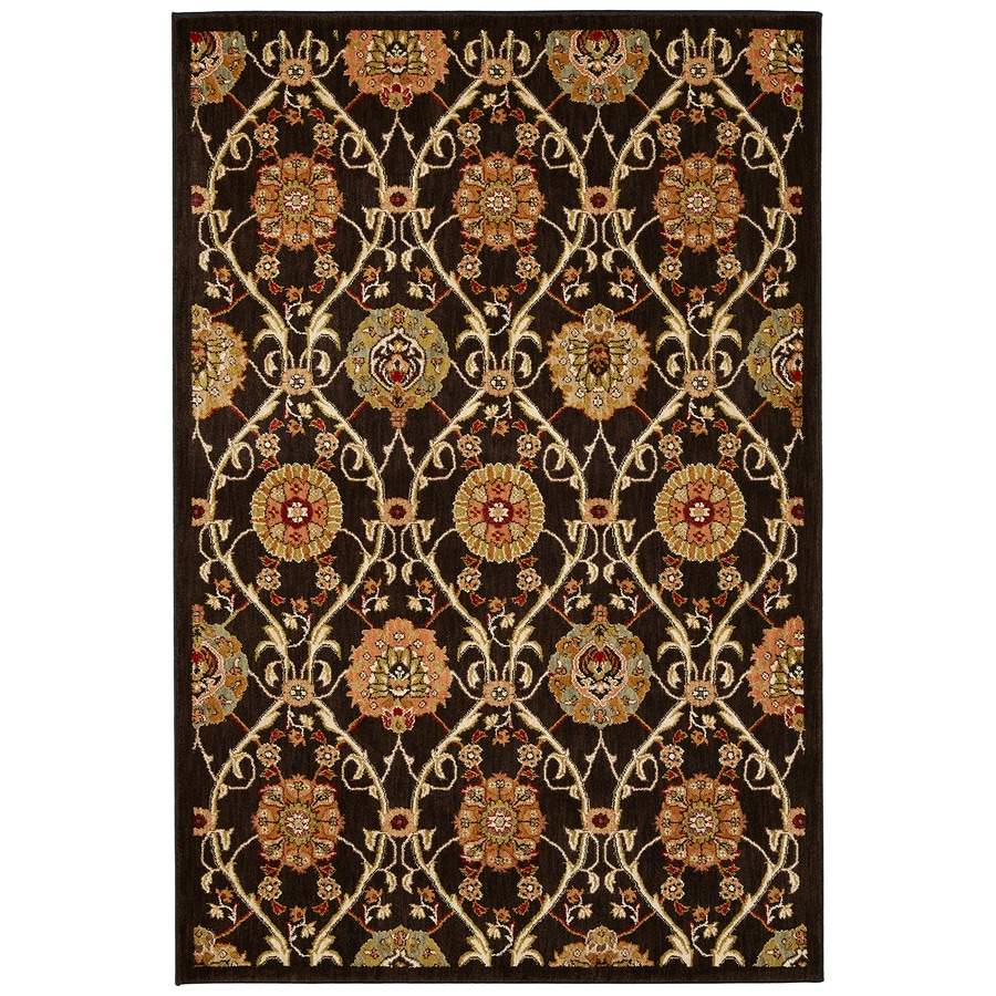 Mohawk Home Barre Black Brown Rectangular Indoor Woven Area Rug (Common: 5 x 8; Actual: 63-in W x 94-in L x 0.5-ft Dia)