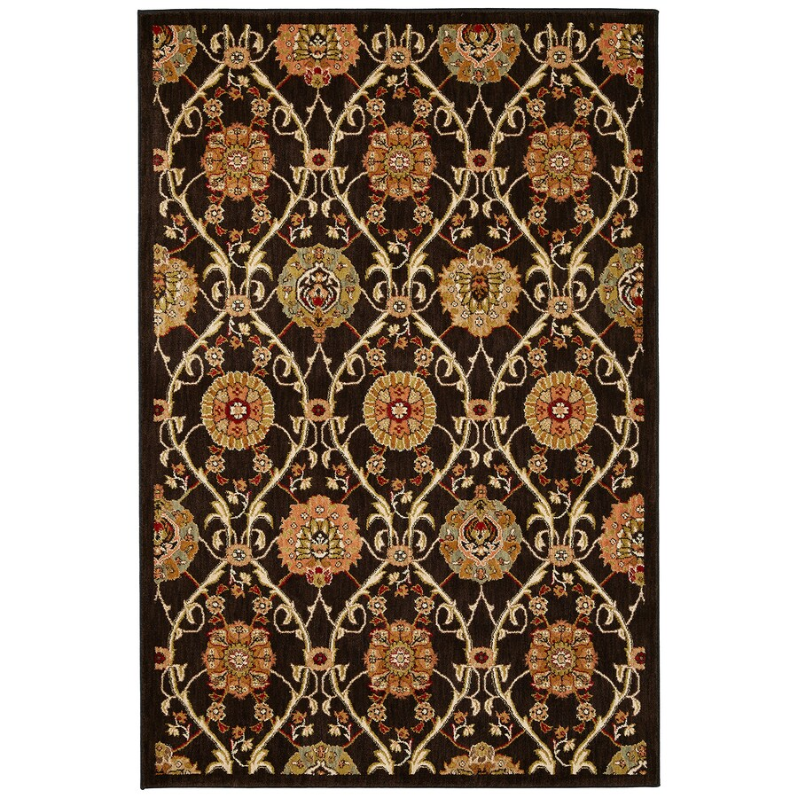 Mohawk Home Barre Black Brown Rectangular Indoor Woven Area Rug (Common: 8 x 11; Actual: 96-in W x 132-in L x 0.5-ft Dia)