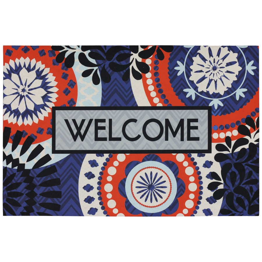 Mohawk Home Blue Rectangular Door Mat (Common: 18-in x 27-in; Actual: 18-in x 27-in)
