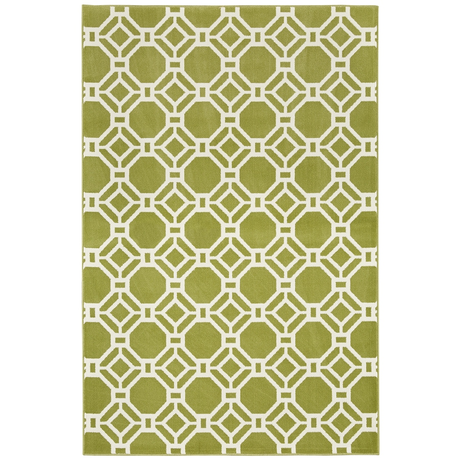 Mohawk Home Kew Gardens Iguana Green Rectangular Indoor Woven Area Rug (Common: 8 x 10; Actual: 8-ft W x 10-ft L x 0.5-ft Dia)