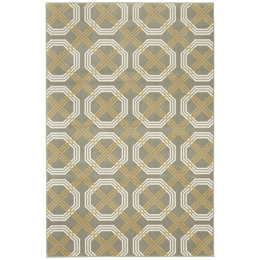 Mohawk Home Fenwick Elephant Skin Gray Rectangular Indoor Machine-Made Inspirational Area Rug (Common: 8 x 10; Actual: 8-ft W x 10-ft L x 0.5-ft dia)