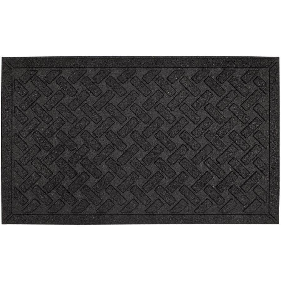 Mohawk Home Impressions Mat Black Rectangular Door Mat