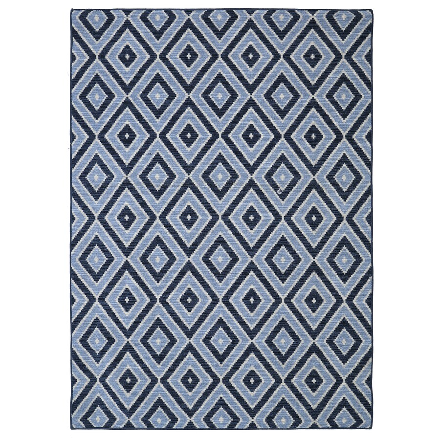 Mohawk Home Shima Blue Blue Rectangular Indoor Tufted Area Rug (Common: 8 x 10; Actual: 96-in W x 120-in L x 0.5-ft Dia)