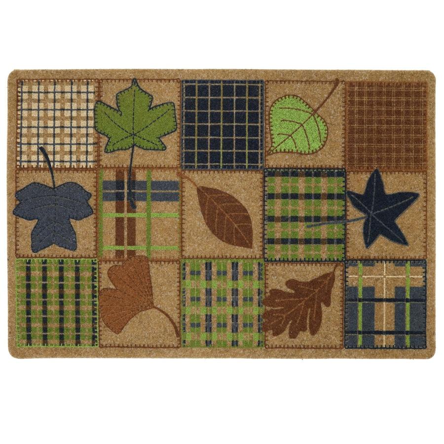 Mohawk Home Brown/Tan Rectangular Door Mat (Common: 18-in x 27-in; Actual: 18-in x 27-in)