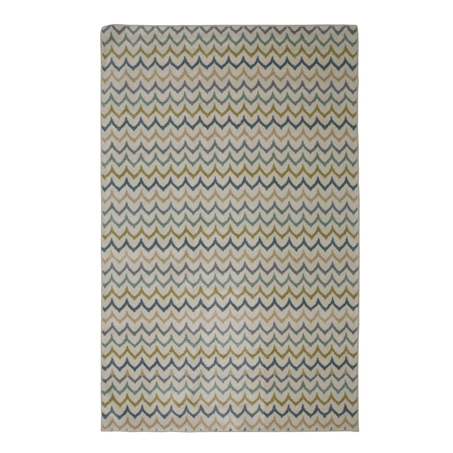 Mohawk Home Dyllan Light Multi Cream Rectangular Indoor Tufted Area Rug (Common: 5 x 8; Actual: 60-in W x 96-in L x 0.5-ft Dia)