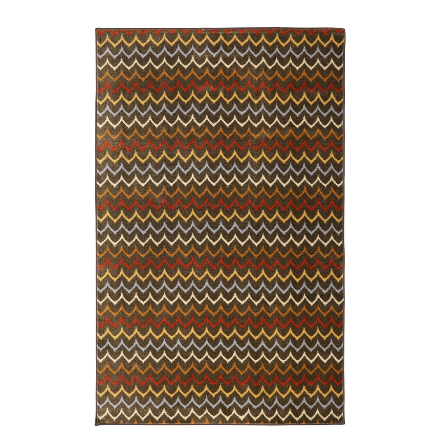 Mohawk Home Dyllan Spice Brown Rectangular Indoor Tufted Area Rug (Common: 5 x 8; Actual: 60-in W x 96-in L x 0.5-ft Dia)