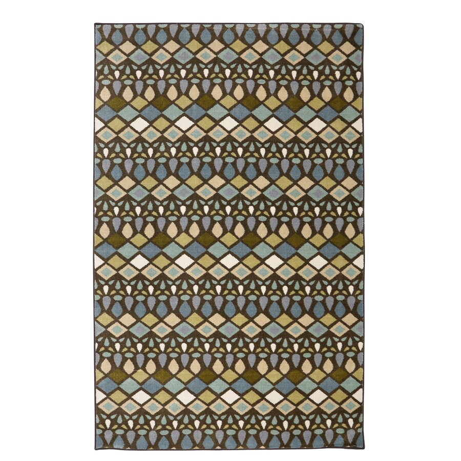 Mohawk Home Tao Light Multi Cream Rectangular Indoor Tufted Area Rug (Common: 5 x 8; Actual: 5-ft W x 8-ft L x 0.5-ft Dia)