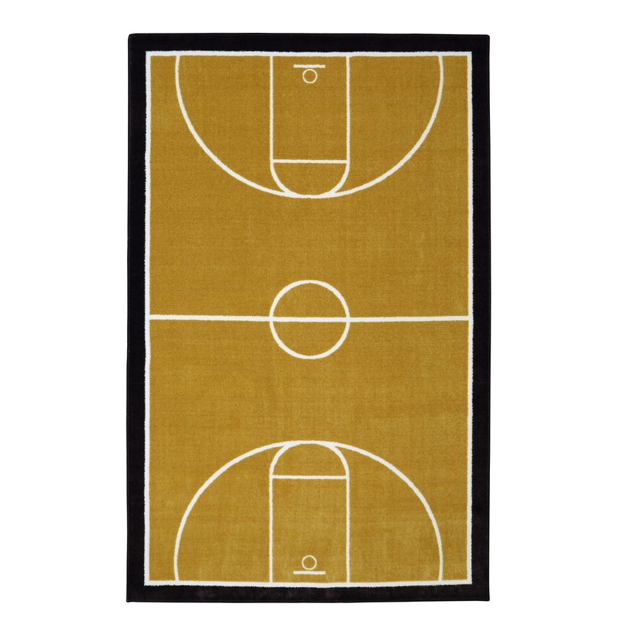 Mohawk Home Court Neutral Tan Rectangular Indoor Tufted Area Rug (Common: 5 x 8; Actual: 60-in W x 96-in L x 0.5-ft Dia)