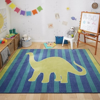 Lime Indoor Kids Area Rug