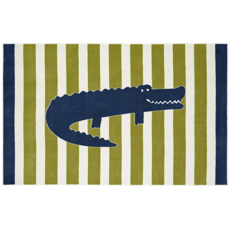 Mohawk Home Friendly Alligator Multi Lime Rectangular Indoor Tufted Area Rug (Common: 5 x 8; Actual: 5-ft W x 8-ft L x 0.5-ft Dia)