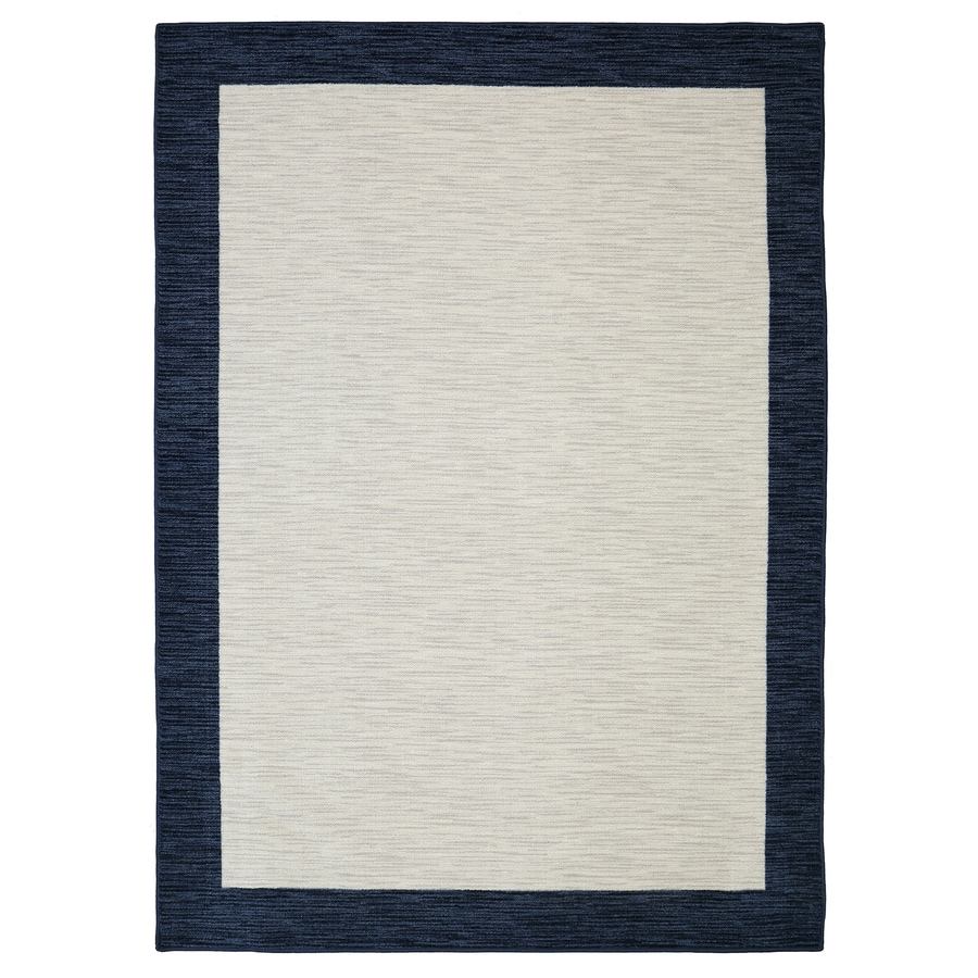 Mohawk Home Brutti Navy Blue Rectangular Indoor Tufted Area Rug (Common: 5 x 8; Actual: 5-ft W x 8-ft L x 0.5-ft Dia)