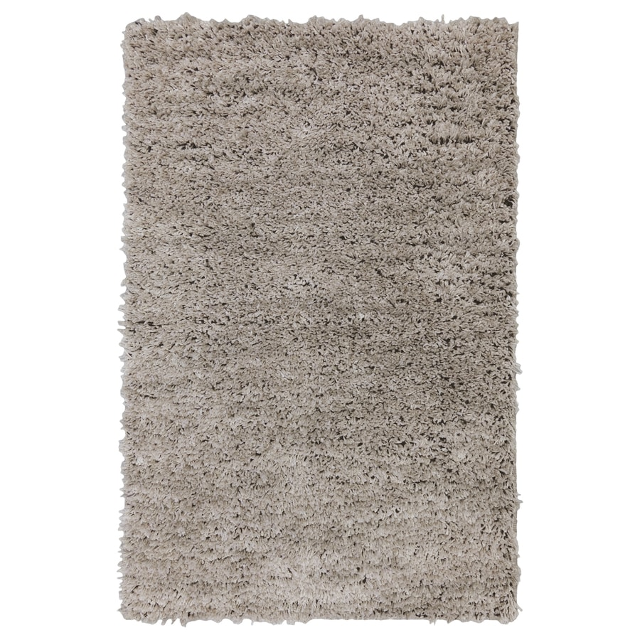 allen + roth Taney Gray and Black Rectangular Indoor Shag Throw Rug (Common: 2 x 3; Actual: 2-ft W x 3.3333-ft L x 0.5-ft Dia)