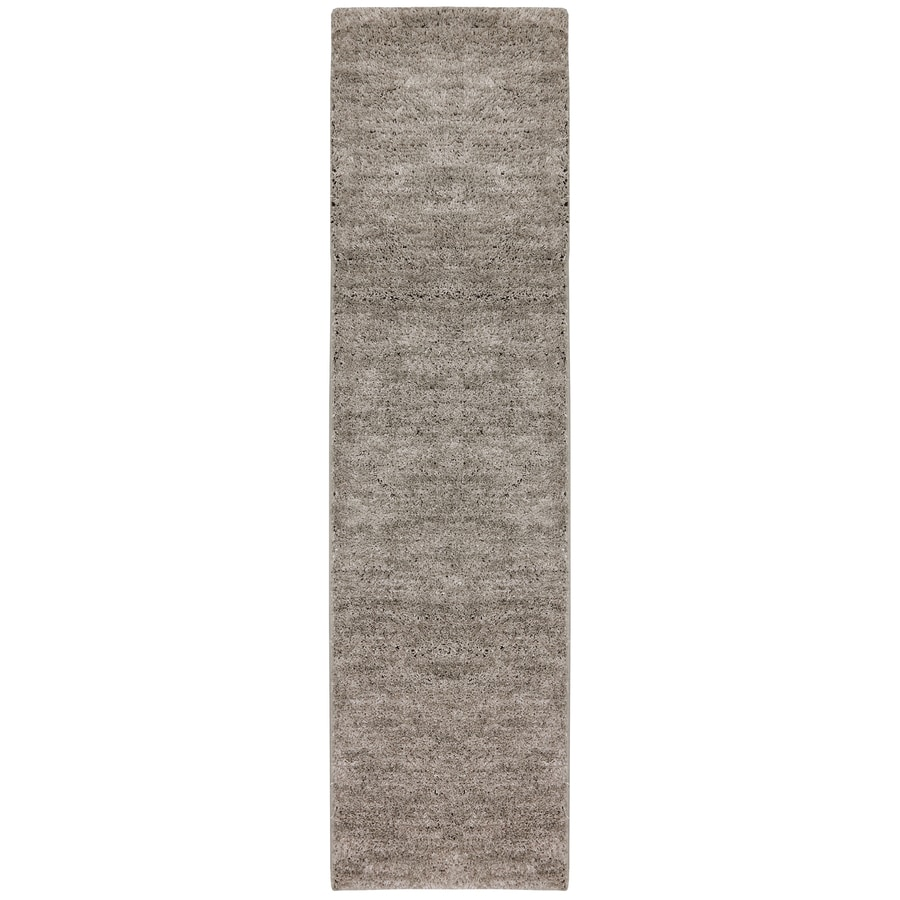 allen + roth Taney Gray and Black Rectangular Indoor Shag Runner (Common: 2 x 8; Actual: 2-ft W x 8-ft L x 0.5-ft Dia)