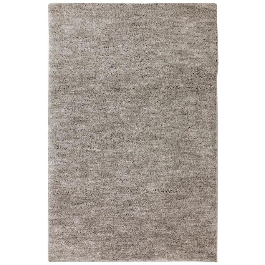 allen + roth Taney Gray and Black Rectangular Indoor Distressed Area Rug (Common: 5 x 8; Actual: 5-ft W x 8-ft L x 0.5-ft dia)