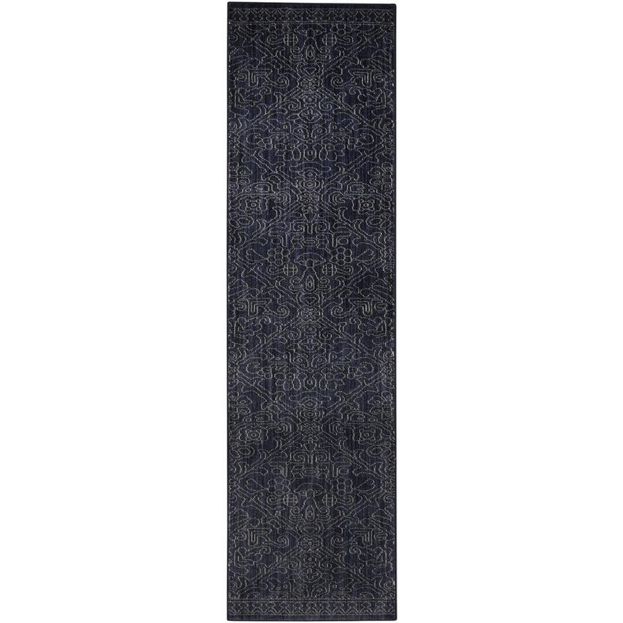 allen + roth Resbridge Indigo Rectangular Indoor Woven Runner (Common: 2 x 8; Actual: 25-in W x 94-in L x 0.5-ft Dia)