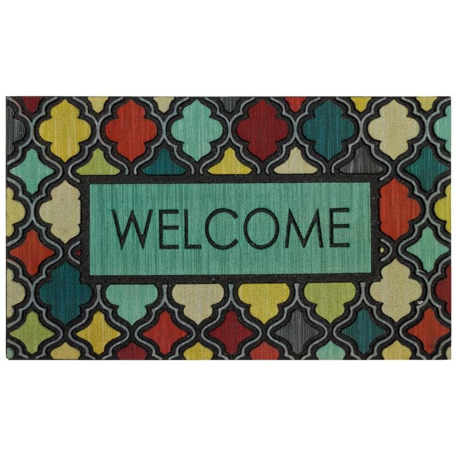Mohawk Home Green Rectangular Door Mat (Common: 18-in x 30-in; Actual: 18-in x 30-in)