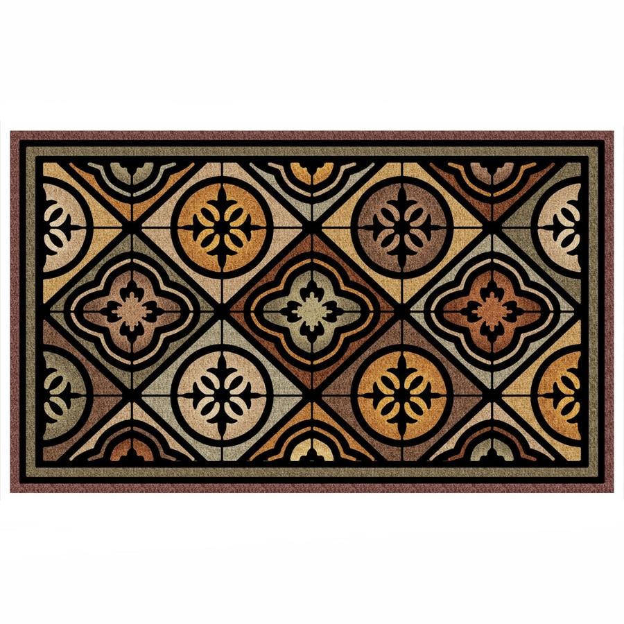 Mohawk Home Brown Rectangular Door Mat (Common: 19-in x 30-in; Actual: 18-in x 30-in)