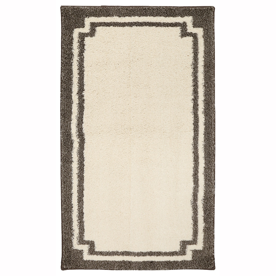 allen + roth Driscombe Creme Brulee Rectangular Indoor Woven Throw Rug (Common: 2 x 3; Actual: 2.0833-ft W x 3.6666-ft L x 0.5-ft Dia)