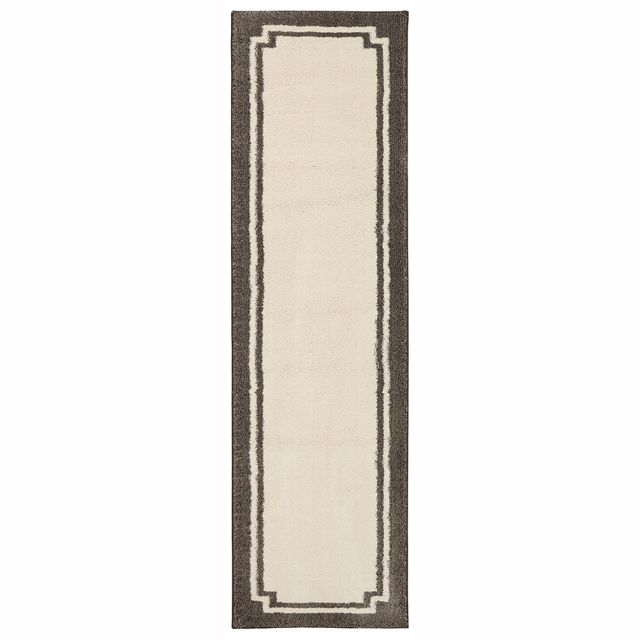 Mohawk Home Driscombe Creme Brulee Rectangular Indoor Woven Runner (Common: 2 x 8; Actual: 2.0833-ft W x 7.8333-ft L x 0.5-ft Dia)