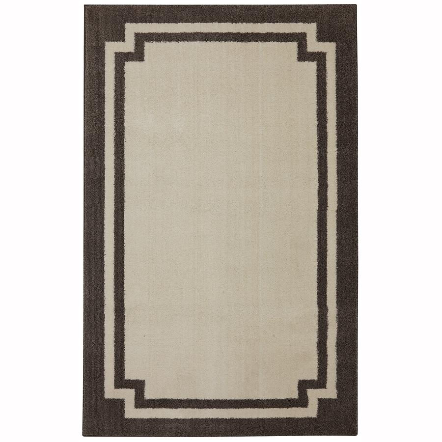 Mohawk Home Driscombe Creme Brulee Rectangular Indoor Woven Area Rug (Common: 8 x 10; Actual: 96-in W x 120-in L x 0.5-ft Dia)