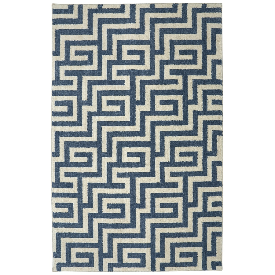 Mohawk Home Berkshire Brewster Blue Rectangular Indoor Machine-Made Area Rug